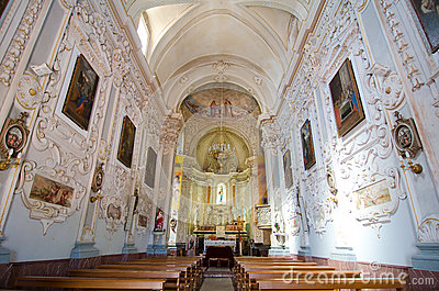 Taormina, Interior of the Church of San Giuseppe