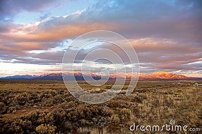 Taos Mountains at Sunset