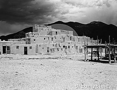 Taos Pueblo Building Editorial Image