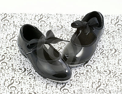 Tap dance shoes and music