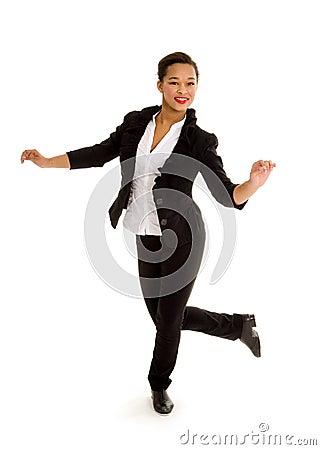 Tap Dancing Girl in Action