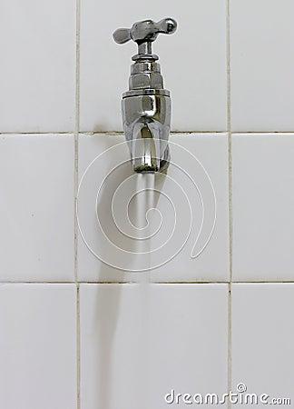 Tap flowing water