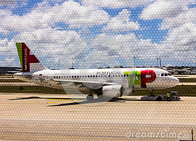 TAP Portugal Airline Airplane Editorial Stock Image