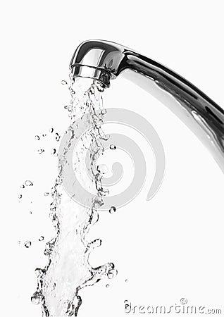 Tap of running water
