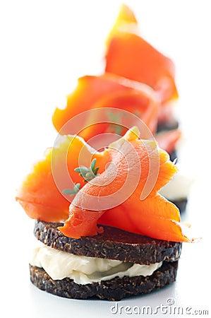 Tapas iwth salmon