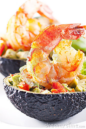 Tapas with prawns