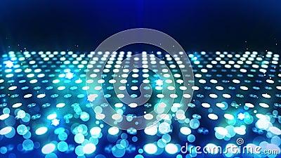 ?tape allumant le fond avec l'effet de la lumi?re beaucoup Animation abstraite de boucle de disco ?clairage au n?on rougeoyant et illustration libre de droits