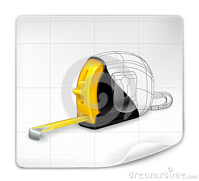 Tape measure drawing