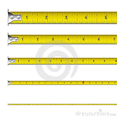 Free Tape Measure In Inches Royalty Free Stock Photos - 16379358