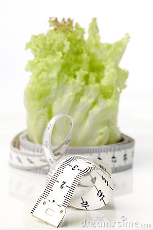 Tape measure and lettuce