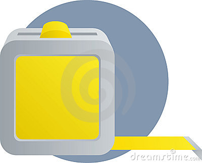 Tape measure ruler tool illustration