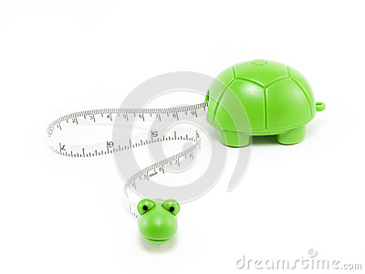 Tape measure with a turtle