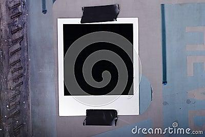 Taped polaroid