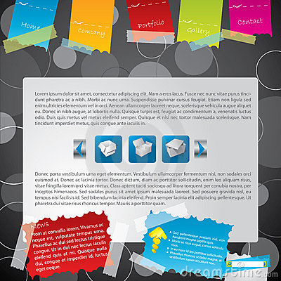 Taped web template