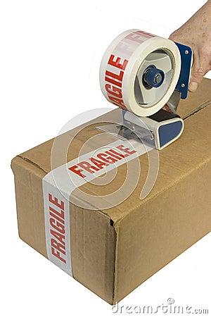 Taping a box