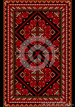 tapis lumineux dans le style ancien avec le rouge et les nuances de bourgogne image libre de. Black Bedroom Furniture Sets. Home Design Ideas