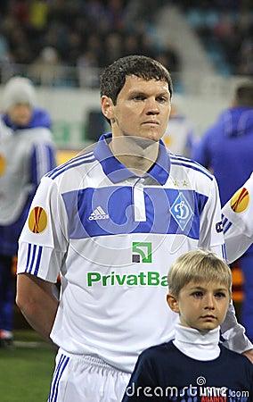 Taras Mikhalik of Dynamo Kyiv Editorial Stock Image