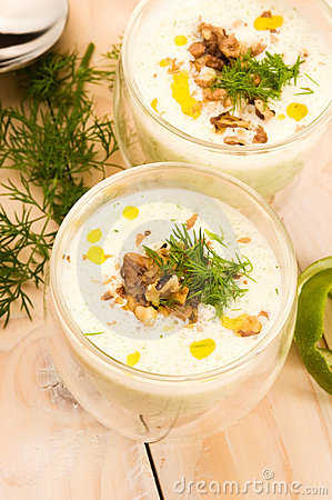Free Tarator - Traditional Bulgarian Cold Summer Soup Royalty Free Stock Images - 20048529