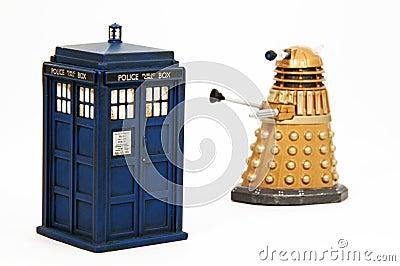 Tardis & Dalek Editorial Photography