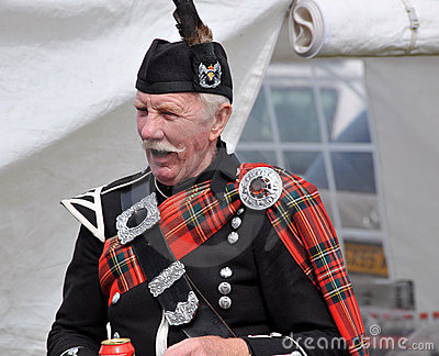 Tarditional Scottish at Nairn Highland Games Editorial Photography