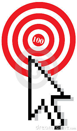 Target with arrow cursor