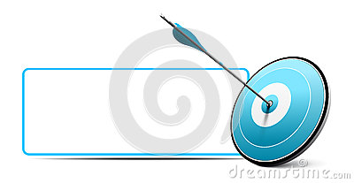 Target and Arrow, Vector Business Icon