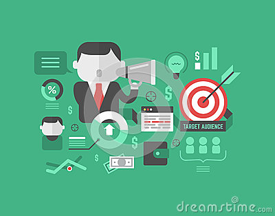 Target Audience. Digital Marketing and Advertising Concept