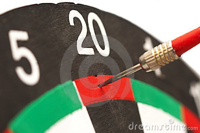 Target board of Darts game