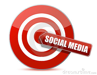 Target bulls eye social media illustration