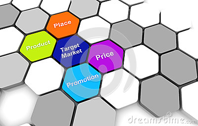 Target Business PlanDiagram connection beehive background