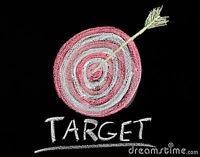 Target on a chalkboard