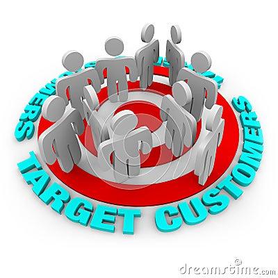 Free Target Customers - Red Target Royalty Free Stock Image - 10644276