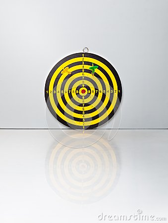 A target with a darts