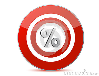 Target discounts percentage sign