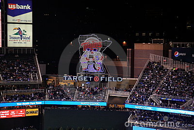 Target Field - Minnesota Twins Editorial Stock Photo
