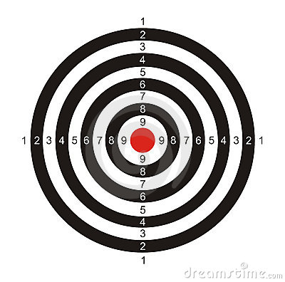Target for game in a darts