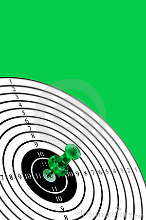 Target on green background