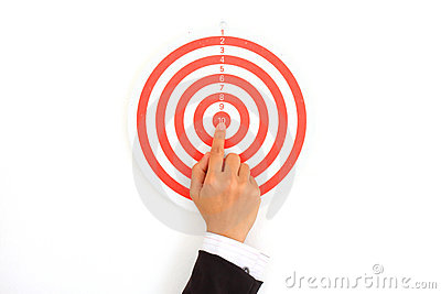 Target with a hand