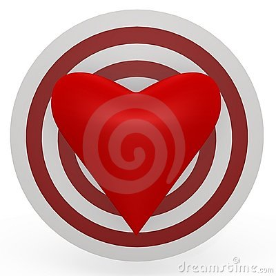 The target is the heart! A 3d image