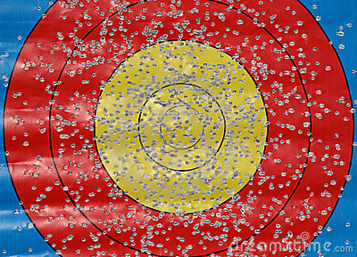 Target with many bullet holes
