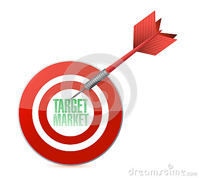 Target market concept illustration design