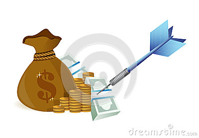 Target money illustration design
