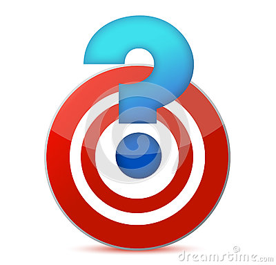 Target with question mark illustration design