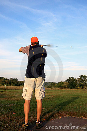 Free Target Shooter And Gun Smoke Stock Photos - 12870183