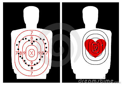 Target-shooting with a heart