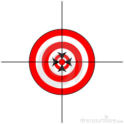 Target Sign with Crosshairs