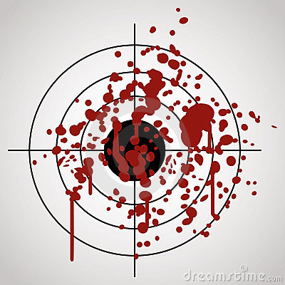 Target splashed with blood