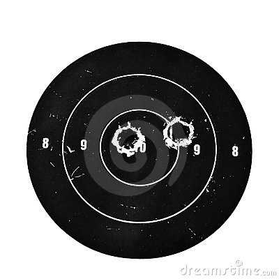 Free Target With Bullet Holes Royalty Free Stock Photography - 6460507