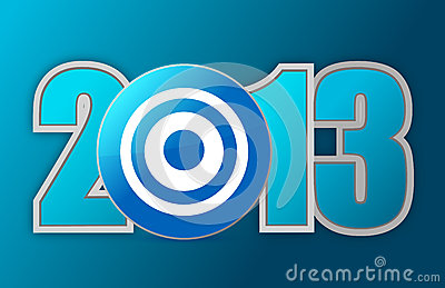 Target Year 2013 Royalty Free Stock Photos - Image: 28052928