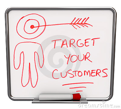 Free Target Your Customers - Dry Erase Board Royalty Free Stock Image - 11788146